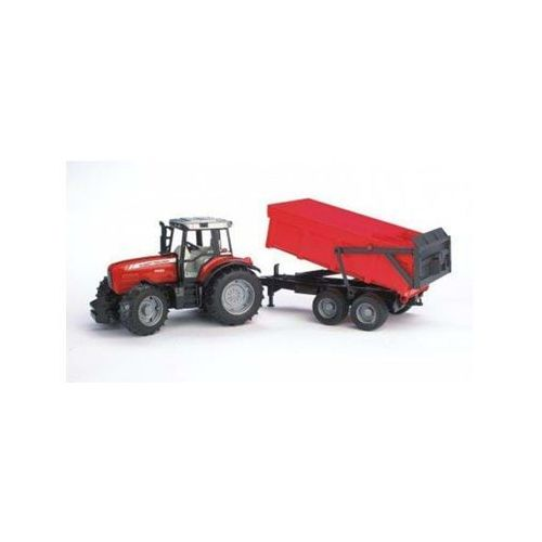 Bruder massey ferguson 7480 with tipping trailer (4001702020453)