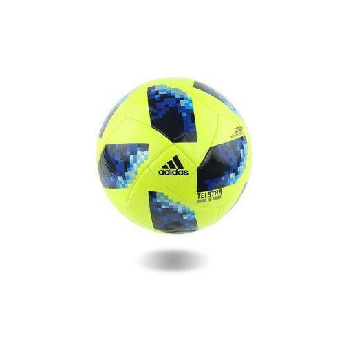Piłka nożna russia 2018 telstar glider roz 4 limonkowo-niebieska marki Adidas
