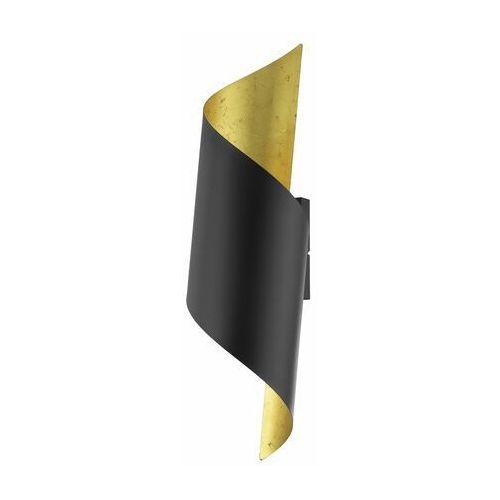 Eglo Wytworny duży kinkiet czarno złoty - 1xe27 (9002759396541)