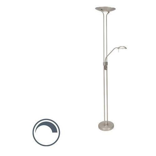 Nowoczesna lampa stojąca stalowa z lampką do czytania, w tym LED - Olet
