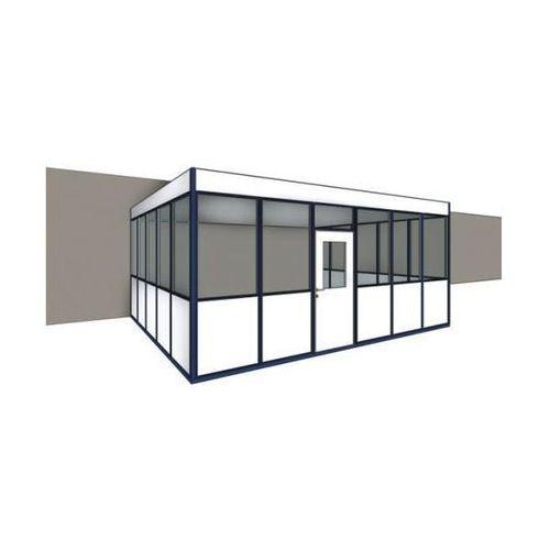 Biuro w hali, 3-stronne do montażu przy istniejącej ścianie, szer. zewn. 2100 mm marki Mds raumsysteme