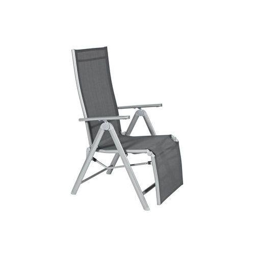 Krzesło ogrodowe składane aluminiowe LAGUNA 7 pozycji z podnóżkiem