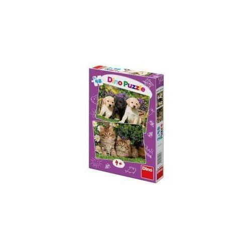 Puzzle 2x48 Zwierzaki DINO (8590878381537)