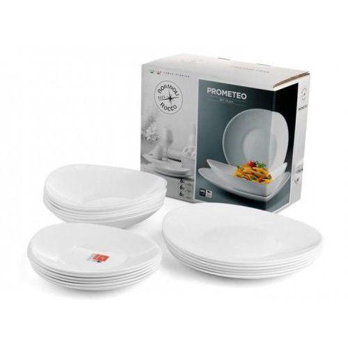 Talerze obiadowe zestaw rocco prometeo 18 elementów marki Bormioli
