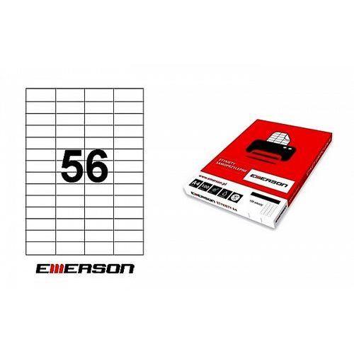 Etykiety samoprzylepne 52,5x21,2mm białe nr 026, 100ark. a4 marki Emerson