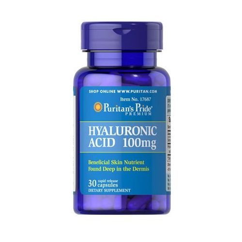 Kwas hialuronowy 100mg Hyaluronic acid 30 kapsułek Puritan's Pride (2552501002154)