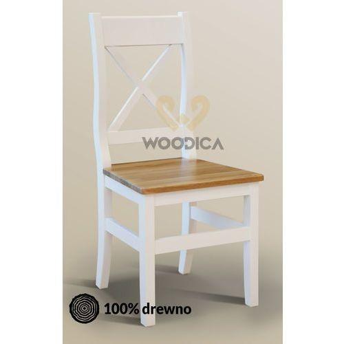 Krzesło nicea 31 z dębowym siedziskiem marki Woodica