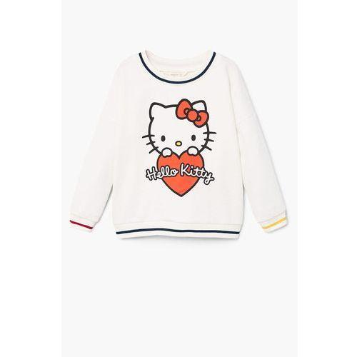 Mango kids - bluza dziecięca melanie hello kitty 116-164 cm