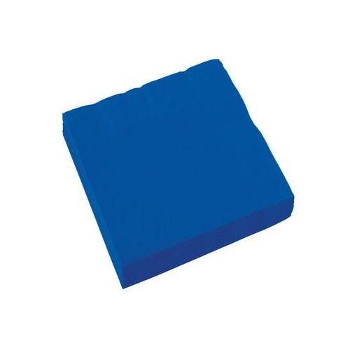 Serwetki niebieskie - 25 cm - 20 szt. marki Amscan