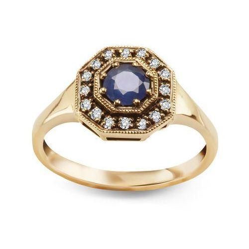 Biżuteria yes Kolekcja wiktoriańska - pierścionek z szafirem i diamentami