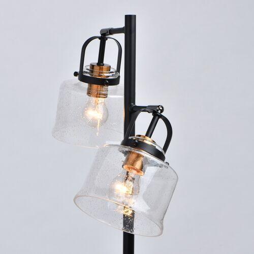 Demarkt Lampa podłogowa podwójna, czarna, szklane klosze walter megapolis (551042502) (4250369177820)