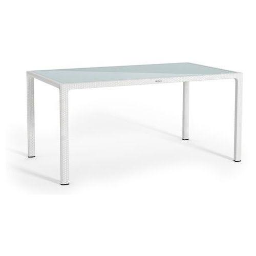 Stół ogrodowy Lechuza biały 160x90 cm