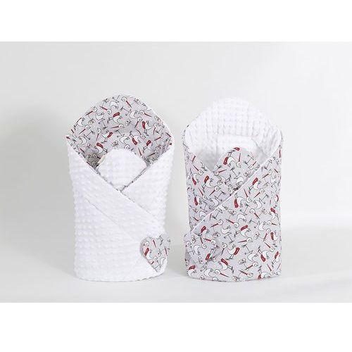 zabawka dwustronny rożek minky dla lalek bociany / biały marki Mamo-tato