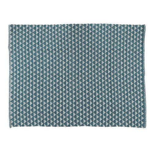 Dywan elizio - 100% bawełny - 150 x 200 cm - niebieski marki Vente-unique