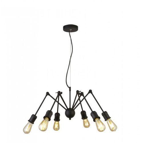 Lampa Wisząca Searchlight MANTIS Czarny, 6-punktowe - Edison - Obszar wewnętrzny - MANTIS - Czas dostawy: od 10-14 dni roboczych