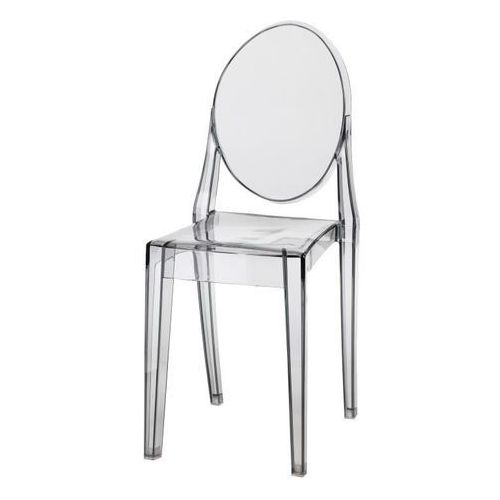 Krzesło Viki inspirowane Victoria Ghost - szary ||transparentny, kolor szary