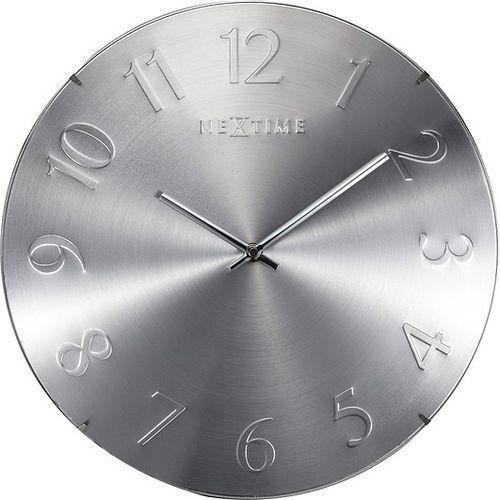 Nextime Zegar ścienny elegant dome srebrny