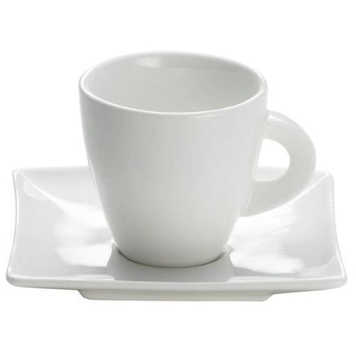 - east meets west - filiżanka do espresso, biała, 80 ml - 0,08 l marki Maxwell & williams