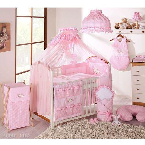 moskitiera baldachim do kolekcji z haftami - różowa marki Mamo-tato