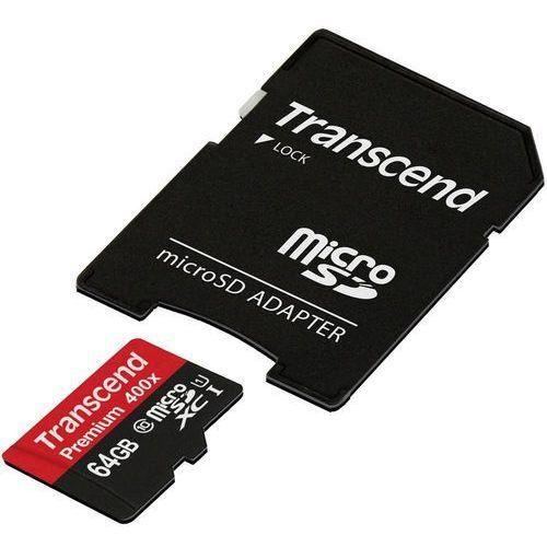 Karta pamięci microSDXC Transcend TS64GUSDU1, 64 GB, Class 10, UHS-I, 60 MB/s / 25 MB/s