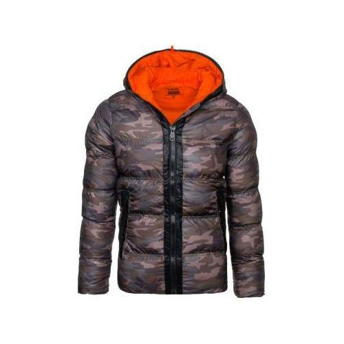 Stegol Kurtka męska zimowa moro-pomarańczowa denley ak128