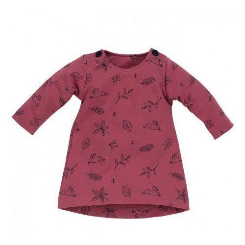 Sukienka długi rękaw colette rozmiar 62 ciemny róż marki Pinokio
