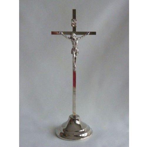 Krzyż metalowy stojący, srebrny wyprodukowany przez Produkt polski