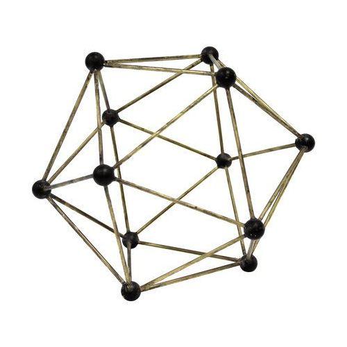 Hk living ozdoba z mosiądzu o kształcie molekularnym aoa9944