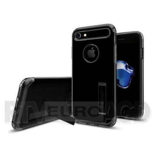 Etui Spigen Slim Armor iPhone 7, czarne z połyskiem z kategorii Futerały i pokrowce do telefonów