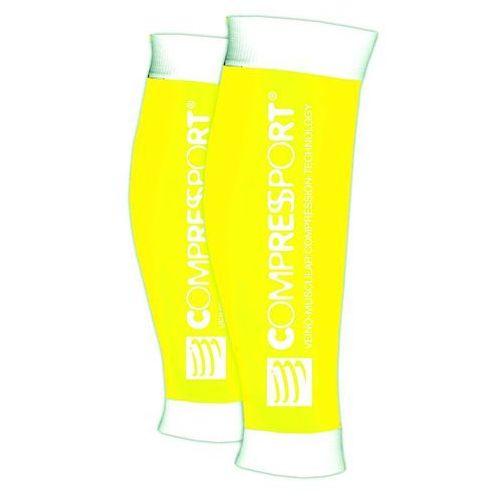 r2 race&recovery - opaski kompresyjne na łydki (żółty) marki Compressport