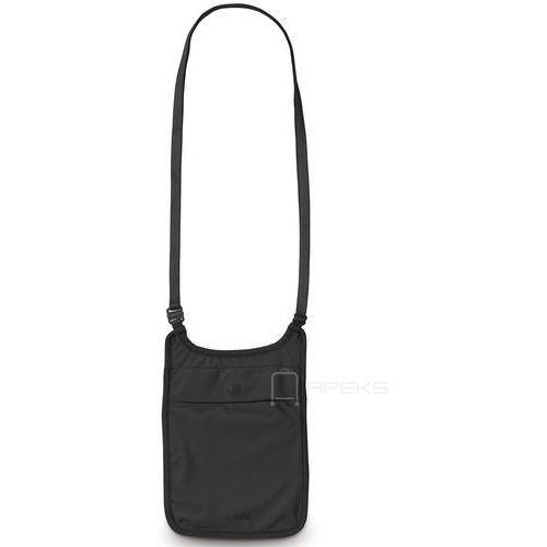 Pacsafe Coversafe S75 dyskretna saszetka podróżna na szyję / etui podróżne - Black