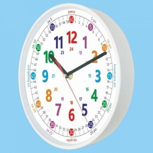 Atrix Zegar biały do nauki odczytu czasu pl