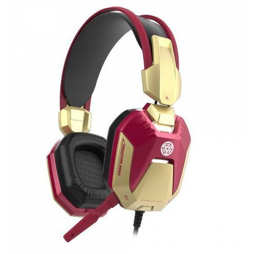 E-BLUE Iron Man Gaming EHS908REAA czerwone słuchawki