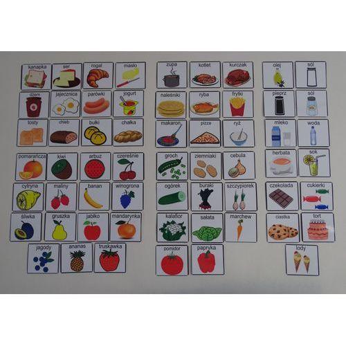 Żywność / Śniadanie, Obiad, Podwieczorek, Kolacja, Owoce, Warzywa - piktogramy