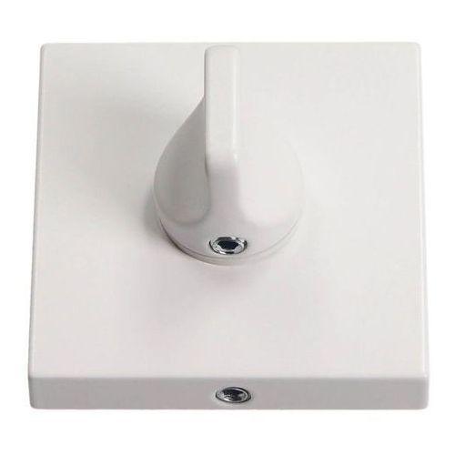 Szyld drzwiowy kwadratowy wc biały matowy marki Gamet