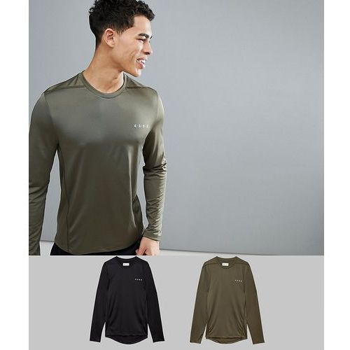 ASOS 4505 Long Sleeve T-Shirt With Quick Dry 2 Pack SAVE - Multi