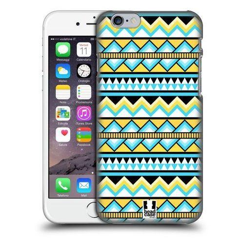 Etui plastikowe na telefon - Aztec Patterns YELLOW AND BLUE
