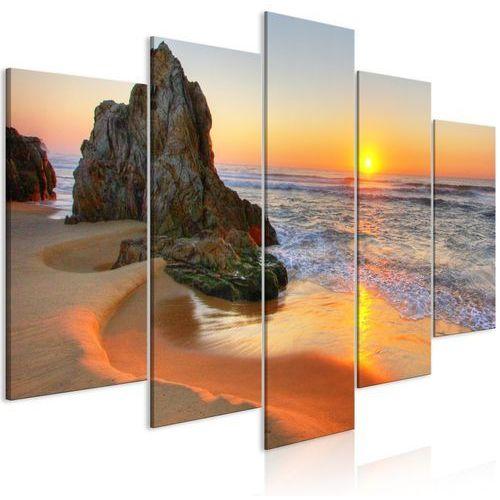 Obraz - spotkanie o zachodzie słońca (5-częściowy) szeroki marki Artgeist