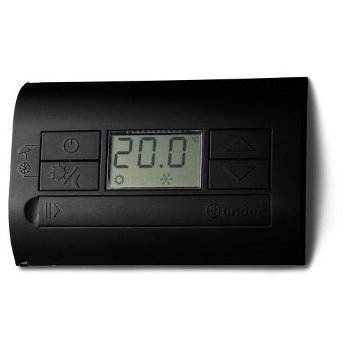 Termostat elektroniczny czarny, wyświetlacz LCD dzień/noc, lato/zima 1P 5A 230V 1T.31.9.003.2000, 1T-31-9-003-2000