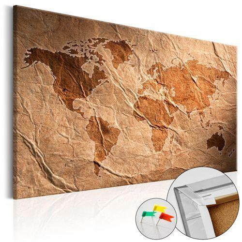 Obraz na korku - Papierowa mapa [Mapa korkowa]