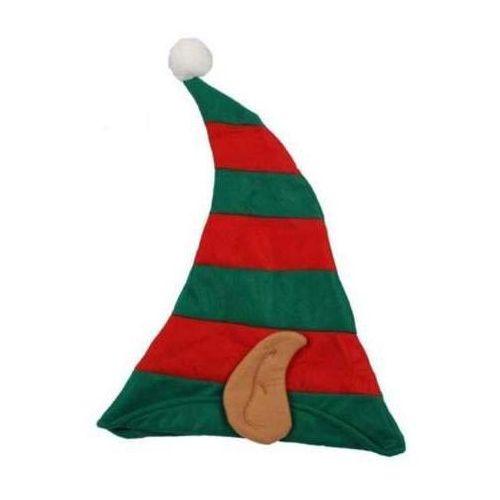Czapka Elfa z uszami 34 x 48 cm - ozdoby i dekoracje świąteczne