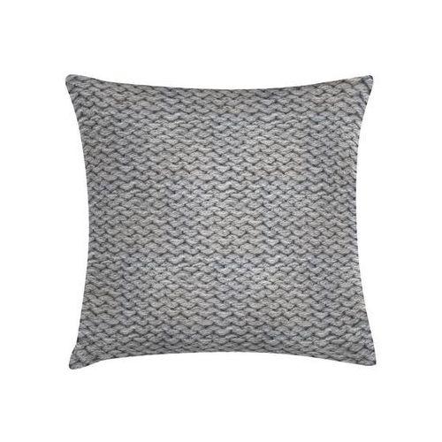 Poduszka imitacja swetra szara 45 x 45 cm marki Sic
