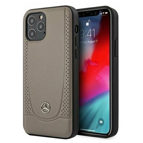 """Mercedes mehcp12marmbr iphone 12/12 pro 6,1"""" brązowy/brown hardcase urban line"""