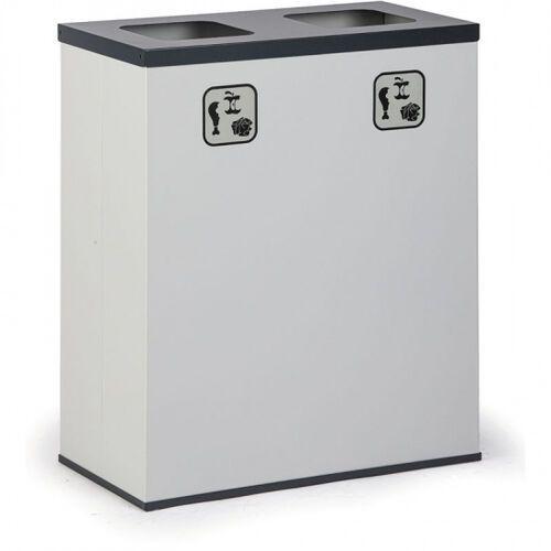 Kosz do segregacji śmieci 2x 50 l z wewnętrznym pojemnikiem
