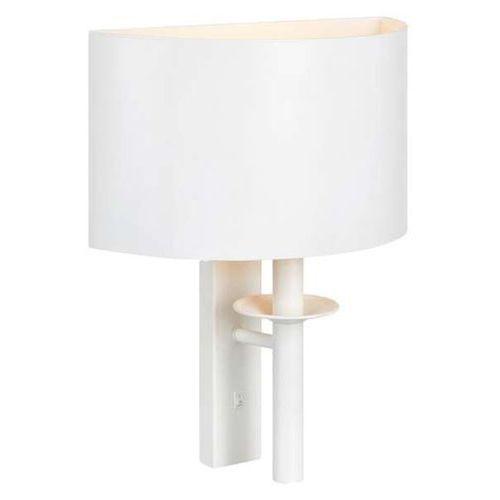 Kinkiet LAMPA ścienna ARMOUR 107374 Markslojd półokrągła OPRAWA metalowa biała, 107374