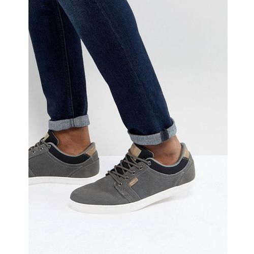Pier one suede plimsolls in grey - grey