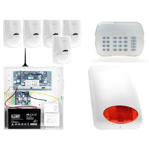 ZA12542 Zestaw alarmowy DSC 5x Czujnik ruchu Manipulator LED Powiadomienie GSM, ZA12542