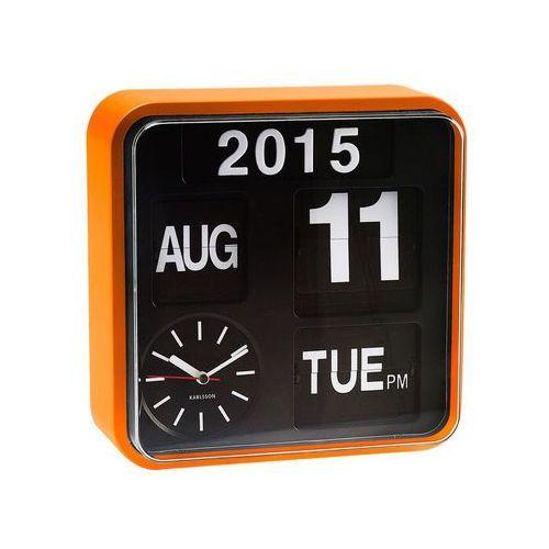 :: zegar ścienny mini flip orange - mini flip orange marki Karlsson