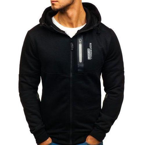 Bluza męska z kapturem z nadrukiem czarna Denley 80683