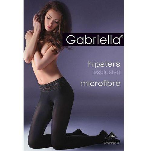 Rajstopy hipsters exclusive 631 mf 50 den 2-s, czarny/nero, gabriella, Gabriella